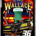 #36 Kenny Wallace iPad Cover